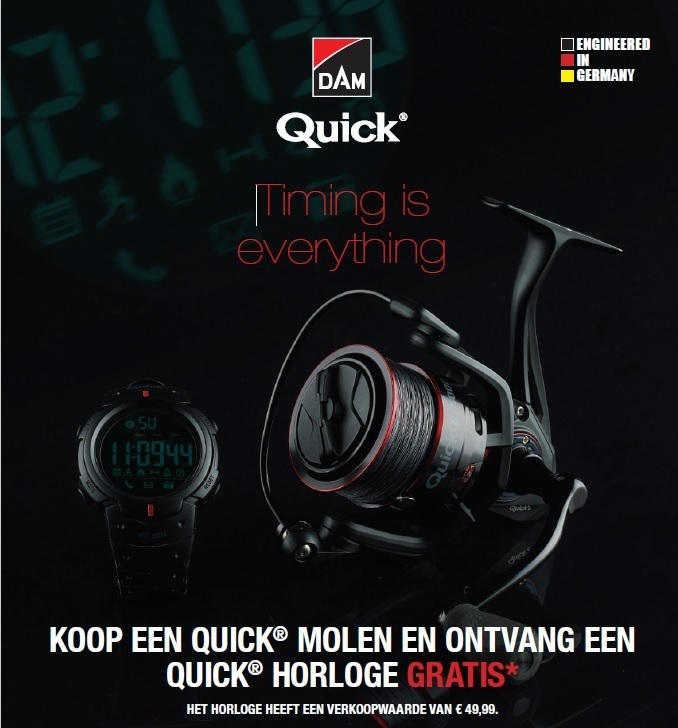 Dam Quick 6 FD 1000/3000/4000 en 4000 Match met gratis horloge